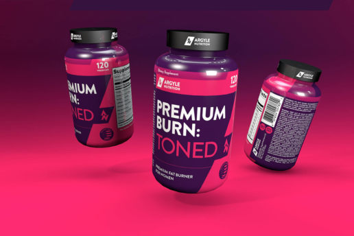 3D Render Design Mockup Freelance Label Sport Supplement