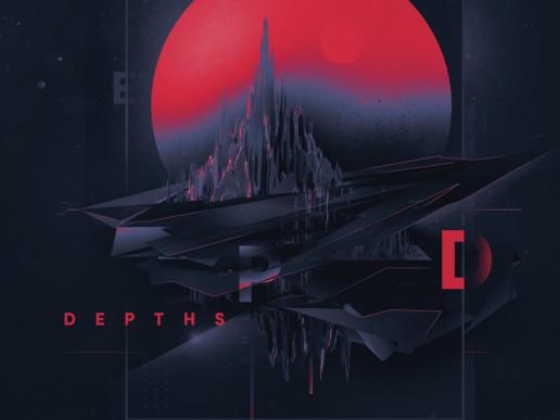 Retro space digital art