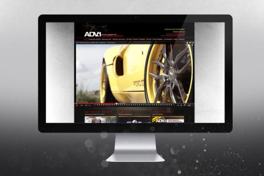 ADV.1 Wheels Homepage website design