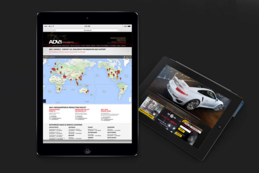 ADV1 Wheels website design home page contact