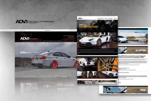 Aftermarket wheel company website design