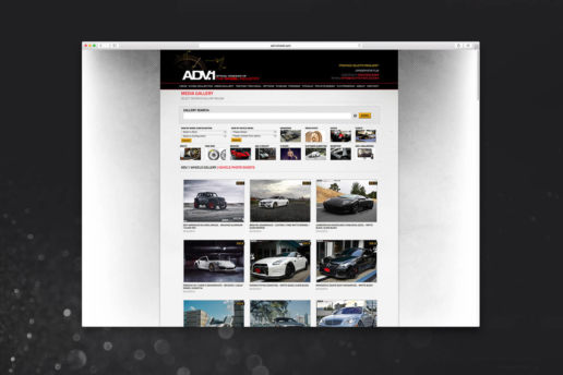 Aftermarket wheel gallery website design
