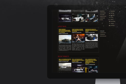 Automotive wheel website blog design freelance