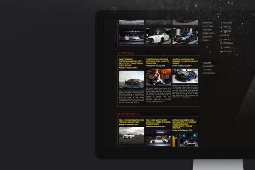Automotive wheel website blog design freelance