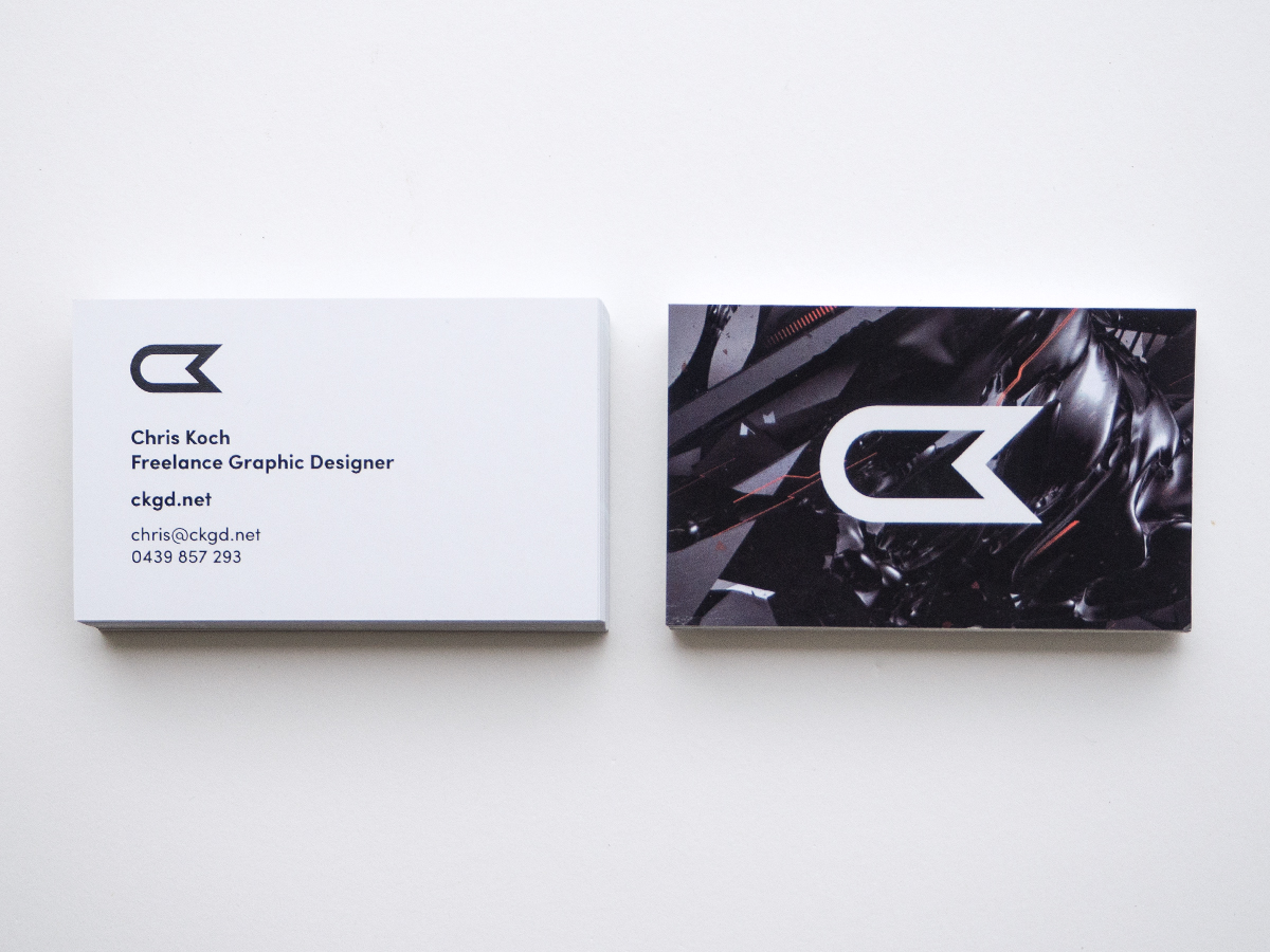Gloss Laminate Business Card Design