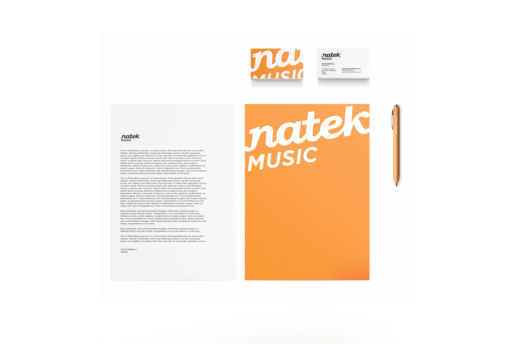 business cards letterhead music artist