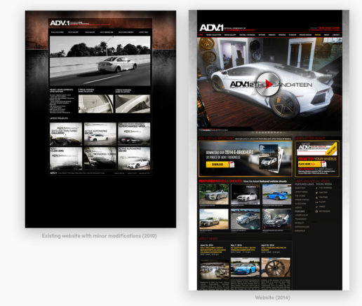 ADV1 Wheels Website Design custom