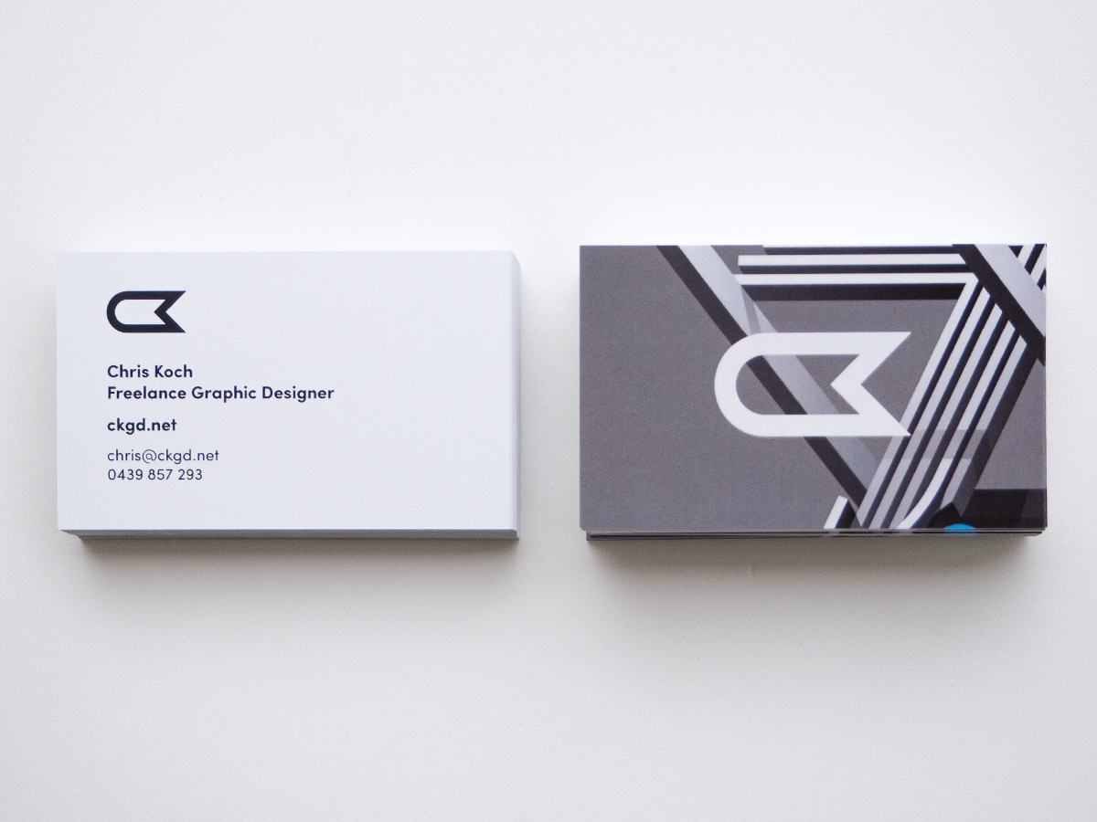 Personal Business Card Designs – Chris Koch – Freelance Graphic Designer