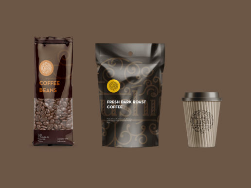 Coffee packaging branding logo design print