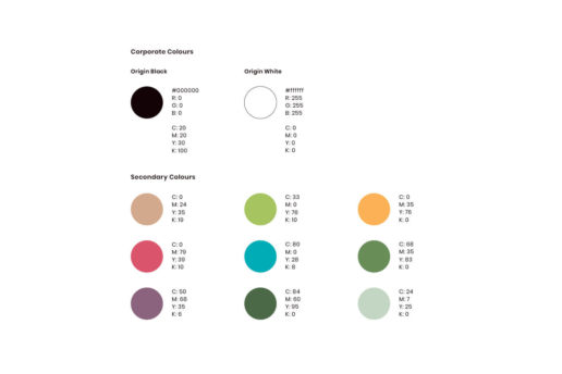 Colour scheme Melbourne freelance graphic designer