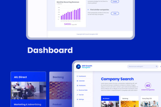Dashboard design portal business UI