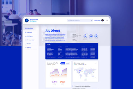 Company portal UI website design