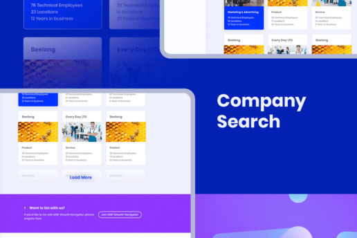 Company Search Portal UI Interactive