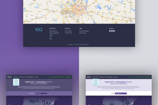 contact map website design