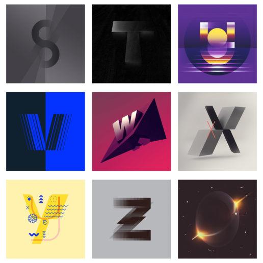 custom 36daysoftype alphabet letter typography