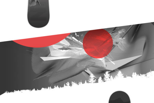 custom abstract snowboard design