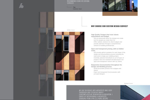 Custom architect website design Melbourne