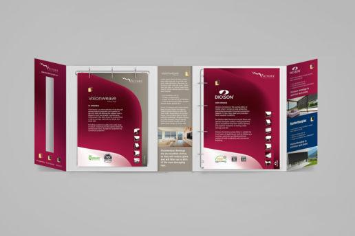 Custom binder design Victory Blinds