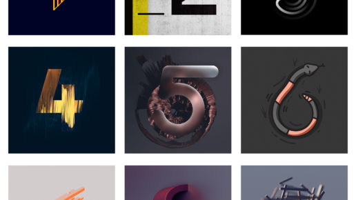 custom lettering 36daysoftype type numbers