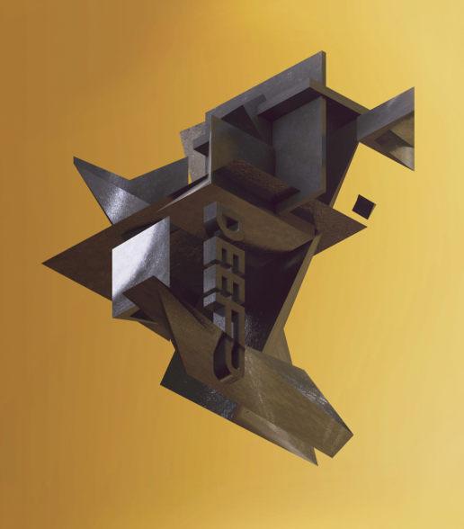 deep text isometric art geometric digital