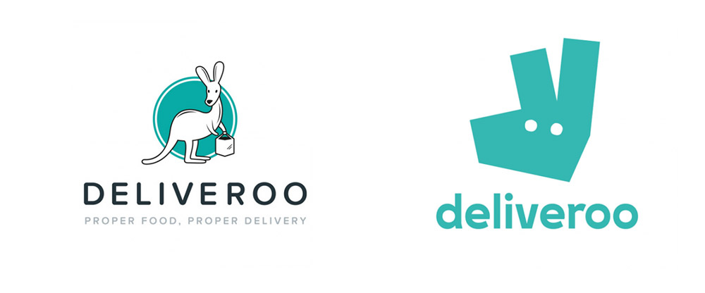 Deliveroo logo redesign 2016 new