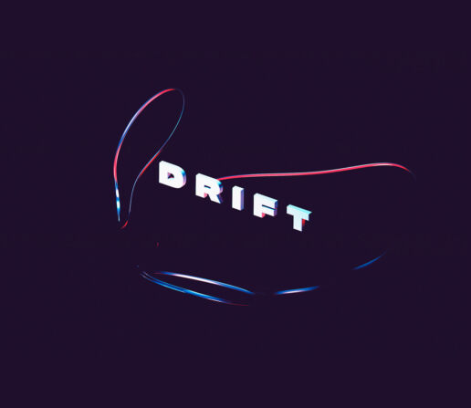 Drift Abstract digital art melbourne 3d text lettering