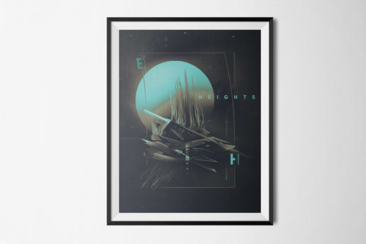 framed abstract space design art