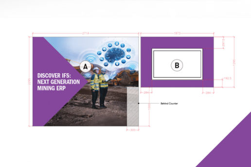 Custom artwork for exhbition signage builders