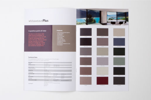Sample Awning Blind Curtain Print Brochure