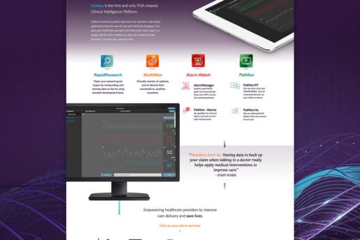 medical website design health