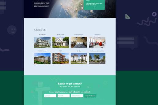 Housing website design home builder