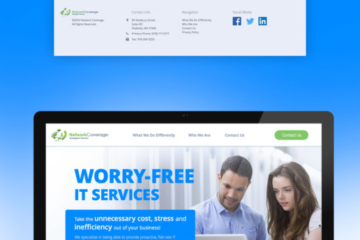it services website design custom