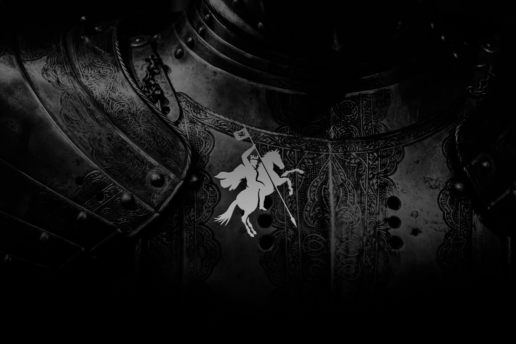Knight horse medieval logo design