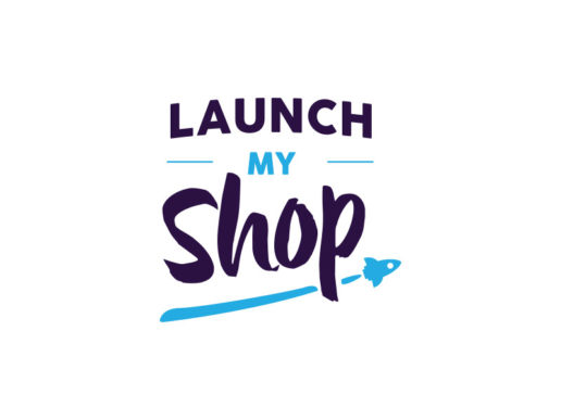 launch-my-shop-logo-design-rocket-trendy