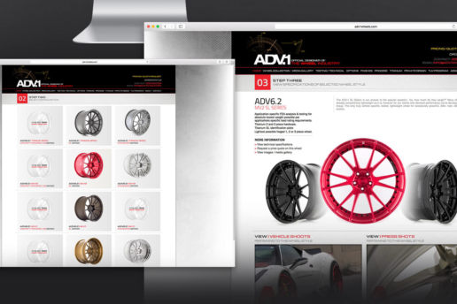 Luxury wheels website design product page