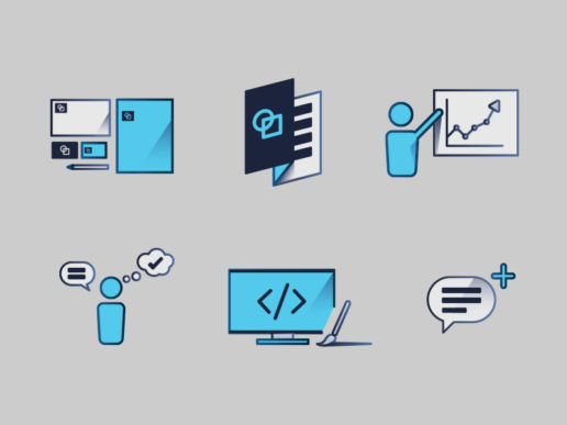 Icon Design Collection for marketing firm