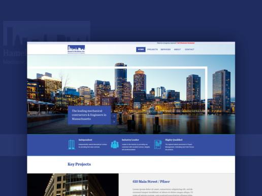 website design responsive mechanical contractor
