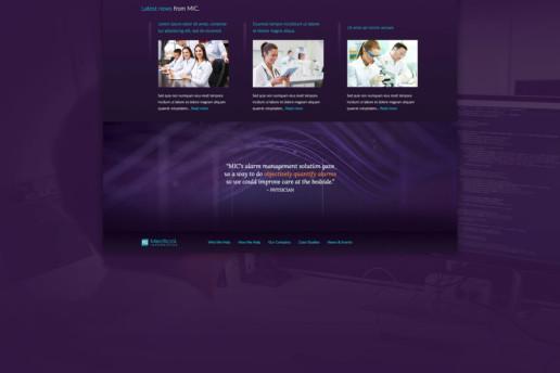 medical freelance web design