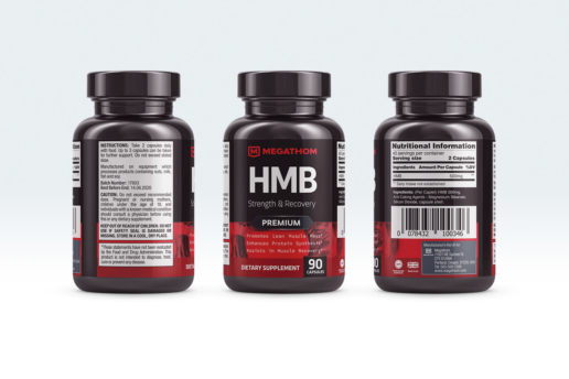 Supplement label logo design packaging