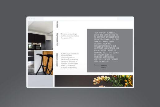 Minimal website design architecture Melbourne