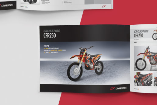 motorcycle brochure design