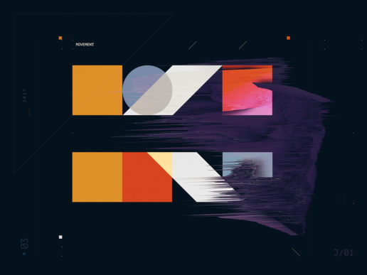 Movement Digital Art Abstract Geometric Shapes