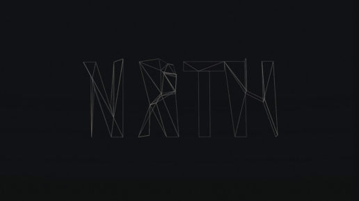 NRTH Abstract text lettering Cinema 4D