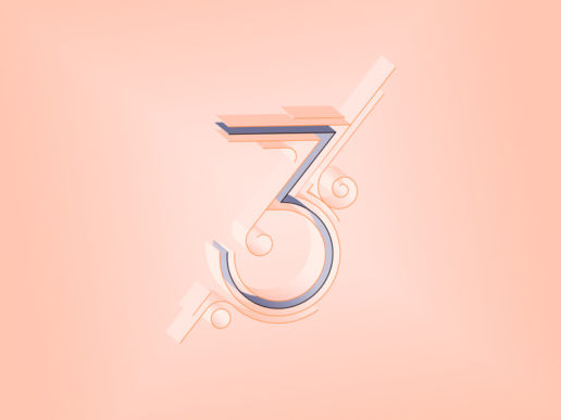 3 three lettering typography