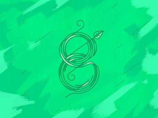 8 eight type design lettering