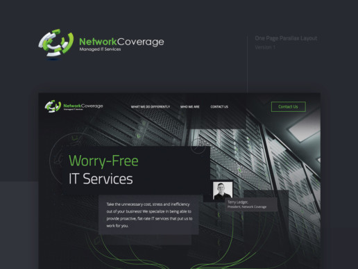 one page website layout design