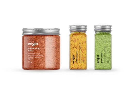 Packaging design food spices herbs jar