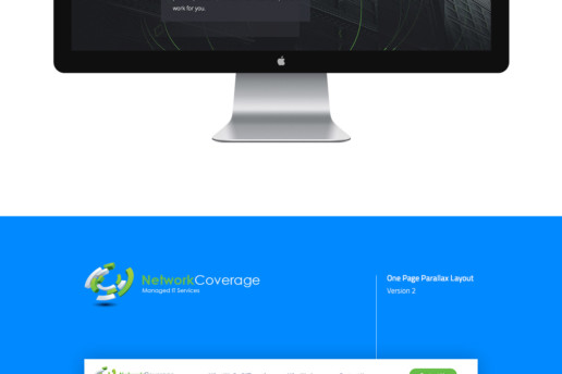 parallax one page website design