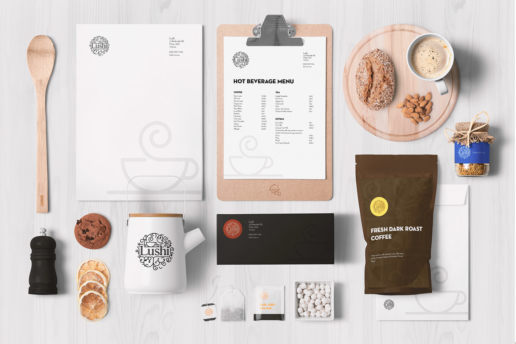 Premium coffee packaging menu and artwork