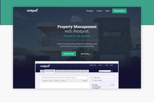 Property management website design freelance design